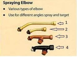 spraying elbow